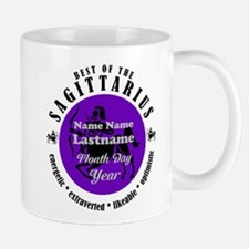 Custom Text Sagittarius Horoscope Zodiac Sign Mugs
