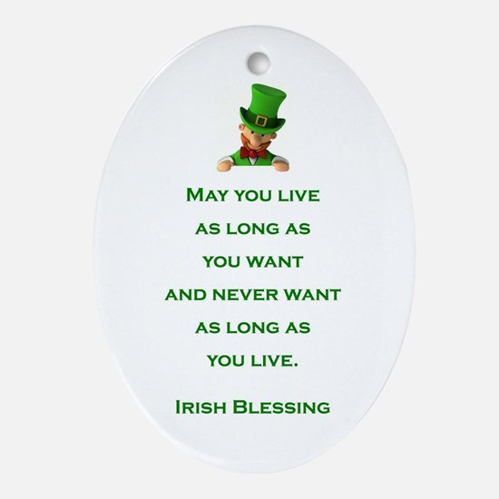 IRISH BLESSING Ornament (Oval)