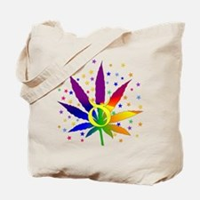 Rainbow Marijuana Taurus Tote Bag
