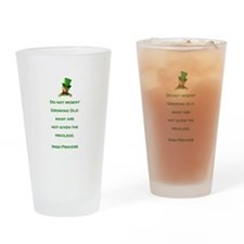 IRISH PROVERB Drinking Glass
