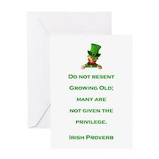 IRISH PROVERB Greeting Card