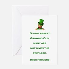 IRISH PROVERB Greeting Card