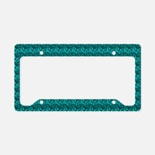 Decorative Teal License Plate Holder