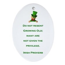 IRISH PROVERB Ornament (Oval)