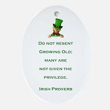 IRISH PROVERB Ornament (Oval)