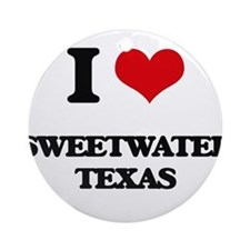I love Sweetwater Texas Ornament (Round)