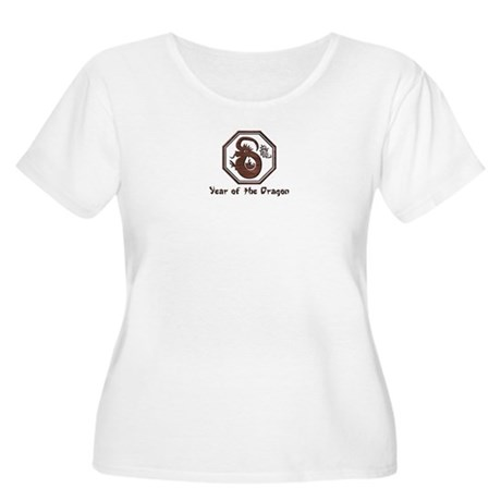 Year of the Dragon Women's Plus Size Scoop Neck T-