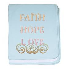 Faith Hope Love baby blanket