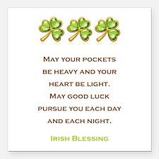 "IRISH BLESSING Square Car Magnet 3"" x 3"""