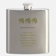 IRISH DIPLOMACY Flask