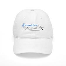 Jennifer Sleeps With Dogs Baseball Cap