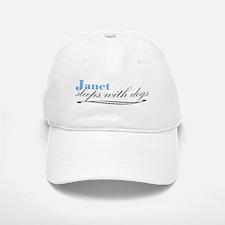 Janet Sleeps With Dogs Baseball Baseball Cap