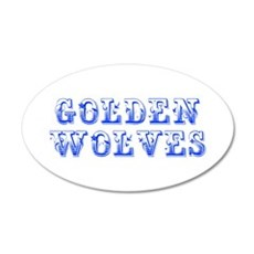 Golden Wolves-Max blue 400 Wall Decal