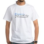 Frances Sleeps With Dogs White T-Shirt