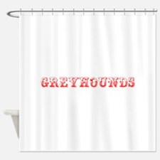 Greyhounds-Max red 400 Shower Curtain