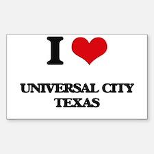I love Universal City Texas Decal