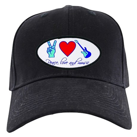 Peace, Love and Music Black Cap