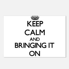 Keep Calm and Bringing It Postcards (Package of 8)
