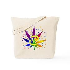 Rainbow Marijuana Cancer Tote Bag