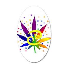 Rainbow Marijuana Cancer Wall Decal
