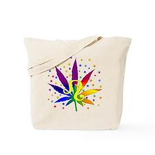 Rainbow Marijuana Leo Tote Bag