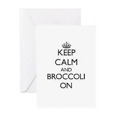 Keep Calm and Broccoli ON Greeting Cards