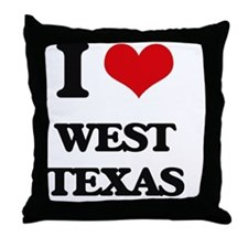 I love West Texas Throw Pillow