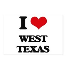 I love West Texas Postcards (Package of 8)