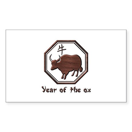 Year of the Ox Rectangle Sticker