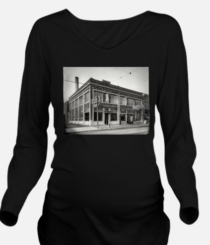 Detroit circa 1912. Long Sleeve Maternity T-Shirt