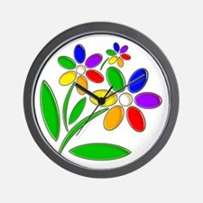 Jelly Flowers Wall Clock