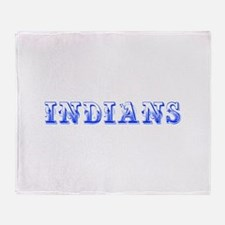 Indians-Max blue 400 Throw Blanket