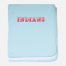 Indians-Max red 400 baby blanket