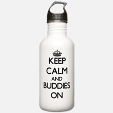 Keep Calm and Buddies Water Bottle