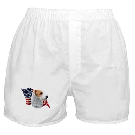 Jack Russell (broken) Flag Boxer Shorts