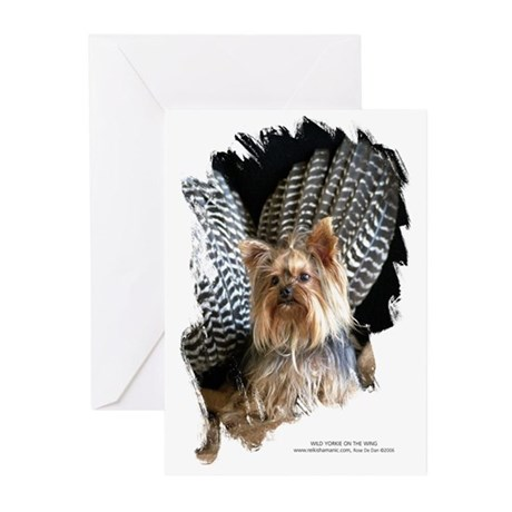 Wild Yorkie on the Wing Greeting Cards (Pk of 10)