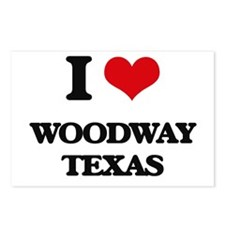 I love Woodway Texas Postcards (Package of 8)