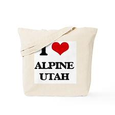 I love Alpine Utah Tote Bag