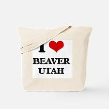 I love Beaver Utah Tote Bag