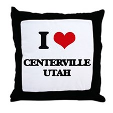 I love Centerville Utah Throw Pillow