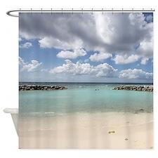 De Palm Island Shower Curtain