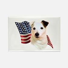 Jack Russell Terrier Flag Rectangle Magnet