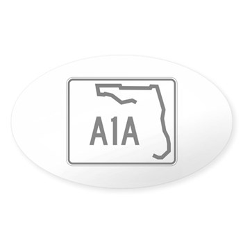 Route A1A, Florida Sticker (Oval)