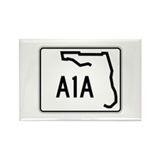 Route A1A, Florida Rectangle Magnet