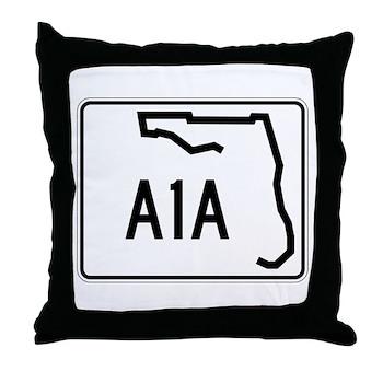 Route A1A, Florida Throw Pillow