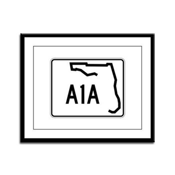 Route A1A, Florida Framed Panel Print