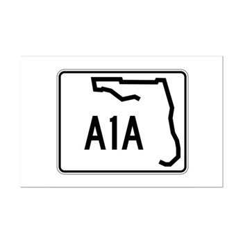 Route A1A, Florida Mini Poster Print