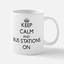 Keep Calm and Bus Stations ON Mug