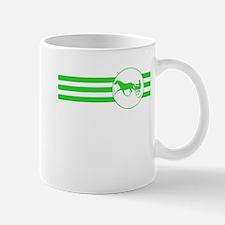 Harness Racing Stripes (Green) Mugs