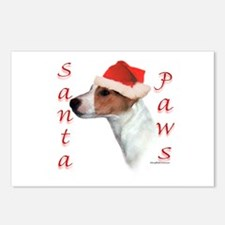 Santa Paws Jack Russell Postcards (Package of 8)